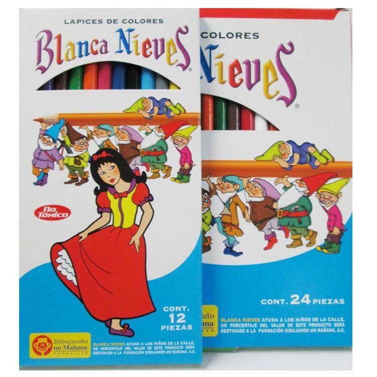 Colores Blanca Nieves Largos Presentacion De 12 Y 24 Piezas Dibujo