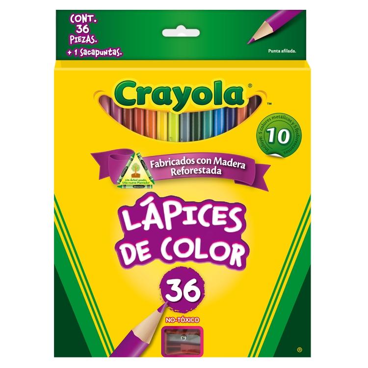 COLORES CRAYOLA CON 36 PIEZAS - Colores