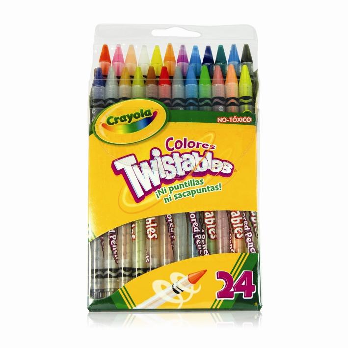 COLORES CRAYOLA TWISTABLES C/24 PZAS - Colores